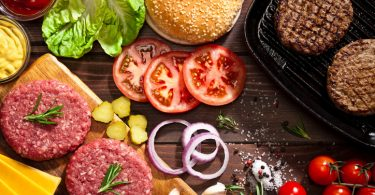 hamburger, ingredienti, cucina