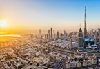 Dubai, Burj Khalifa, United Arab Emirates, Sunset, Cityscape